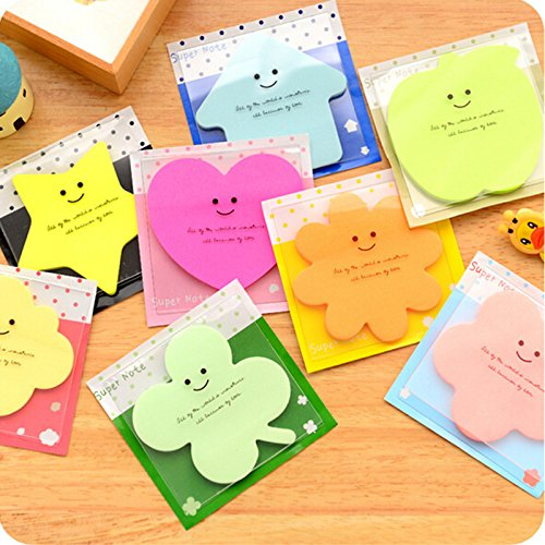 Sticky Notes BookMark Pads Set of 6 Colorful - 1