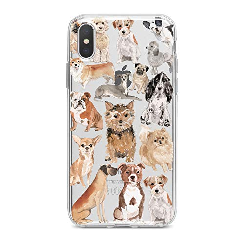 Lex Altern TPU iPhone Case X 8 Plus 7 6s 6 SE 5s 5 Dog Pattern Apple Phone Cute Cover Silicone Durable Print Protective Kid Girl Design Puppy Animal Transparent Women Teen Good Corgi Clear Pomeranian