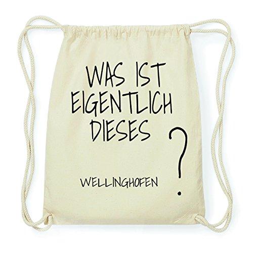 JOllify WELLINGHOFEN Hipster Turnbeutel Tasche Rucksack aus Baumwolle - Farbe: natur Design: Was ist eigentlich dVaE1gZ
