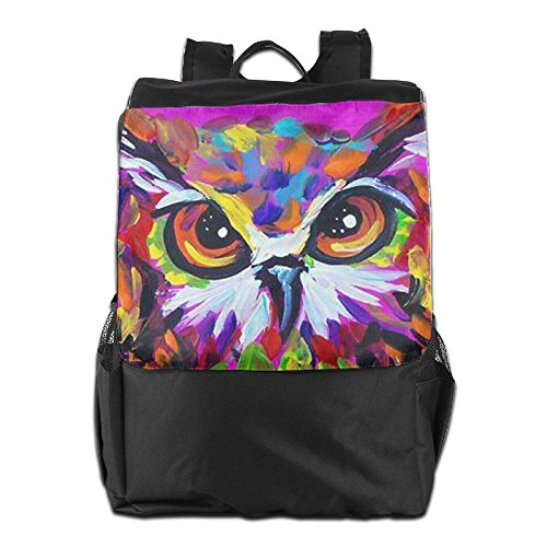 Women Personalized Storage For Camping Travel Backpack Colorful And Adjustable Men Owl Outdoors School HSVCUY Strap Dayback Shoulder Pd6nwIxFqP