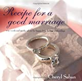 Recipe for a Good Marriage, Cheryl Saban, 1841727865