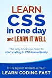 Image of Learn CSS in One Day and Learn It Well (Includes HTML5): CSS for Beginners with Hands-on Project. The only book you need to start coding in CSS ... Coding Fast with Hands-On Project) (Volume 2)