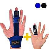 BodyMoves Finger Splint and Finger Extension Splint Trigger Finger Mallet Finger Broken Finger Rheumatoid Arthritis Post Operative Care Finger Knuckle immobilization Injury (Aqua Blue)