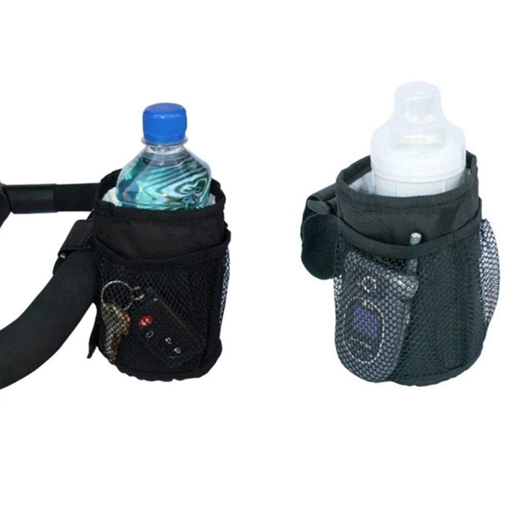 Pr/áctico impermeable de moda negro Buggy organizador portavasos esencial cochecito botella bolsa