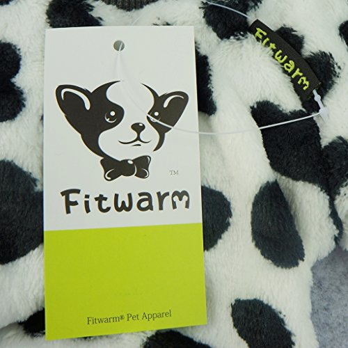 Fitwarm Adorable Milk Cows Pet Dog Clothes Comfy Velvet Winter Pajamas Coat Jumpsuit, Small by Fitwarm (Image #5)