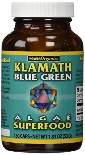 KLAMATH BLUE-GREEN ALGAE Capsules, 130 Count Klamath Blue Green