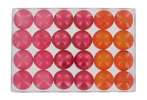 Caja de 24Fantasía baño perlas–rojo bayas Trio S&B
