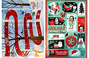 Trader Joe's 2018 Milk Chocolate Christmas Advent Calendar (Pack of 2 Assorted Designs)