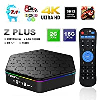 WISEWO Smart TV Box Android 7.1 Amlogic S912 Media Player Octa Core CPU 2GB RAM 16GB ROM Set Top Box Mini PC Support 4K2K 3D BT 4.0 Dual Wifi with Full Panel Touchpad Mini Keyboard from WISEWO