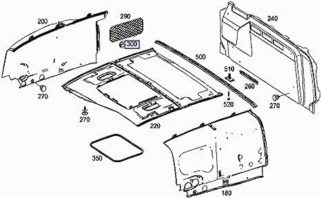 Mercedes Luggage Cargo Storage Net Clip Clamp Hook A2208140101//8Q96