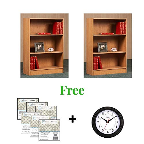 """ORION` Shelf Bookcase Perfect for Displaying Your Books and More (36""""(2 Pack), Black)"""