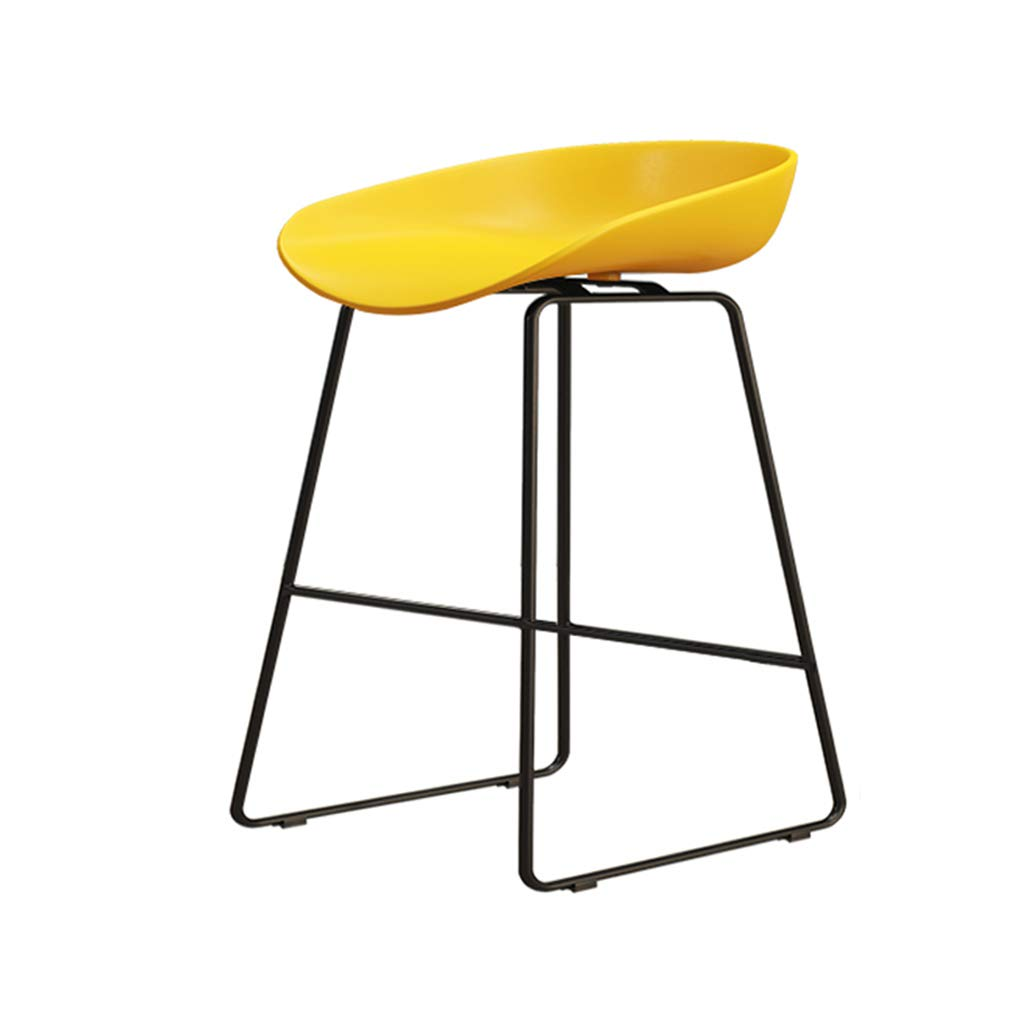 Yellow 65cm DingHome-ca Barstools - Wrought Iron Simple Fashion Breakfast High Chair Creative Bar Stool gold Kitchen Bar Counter