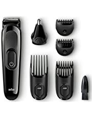 Braun MGK3020 Men's Beard Trimmer/Hair Clippers 6-in-1 Precision Trimmer Ultimate Precision for Any Beard Style