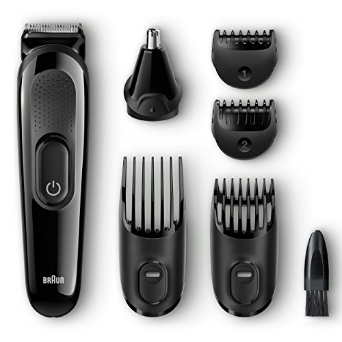 braun multi grooming kit mgk3020 6 in 1 hair beard trimmer for men face. Black Bedroom Furniture Sets. Home Design Ideas