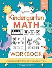 Kindergarten Math Workbook: Kindergarten and 1st Grade Workbook Age 5-7   Homeschool Kindergarteners   Addition and Subtract