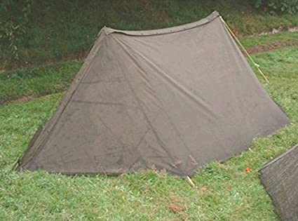 U.S. Military Half Shelter Pup Tent & Amazon.com : U.S. Military Half Shelter Pup Tent : Canvas Tent ...