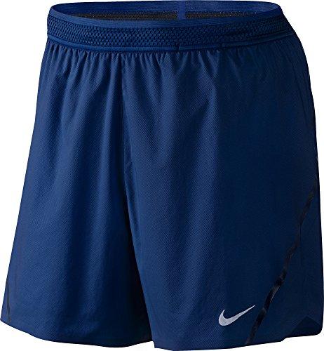 "Nike Men`s Aeroswift 5"" Running Shorts (Medium, Deep Royal Blue (455) / Black/Reflective Silver)"