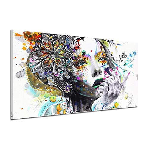 Kikole Women Pattern Canvas Oil Painting Wall Art Picture Home Decor Paintings