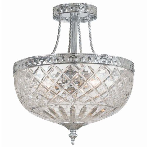 Crystorama 118-12-CH Crystal Three Light Ceiling Mounts from Richmond collection in Chrome, Pol. ()