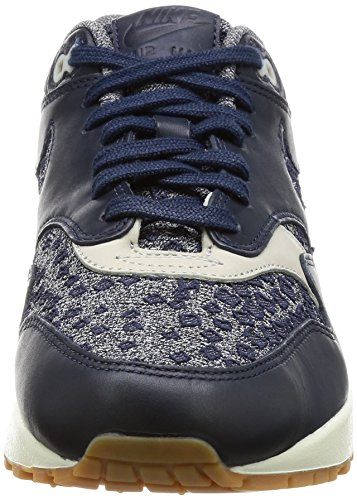 Nike Air Max 1 Premium Women's Shoes Obsidian/Obsidian/Pale Grey 454746-403 rtqJ08c3i