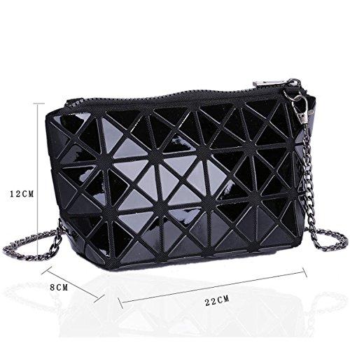Xardi London Lydc media da donna sera frizione designer donne lunga catena spalla trucco borse Black