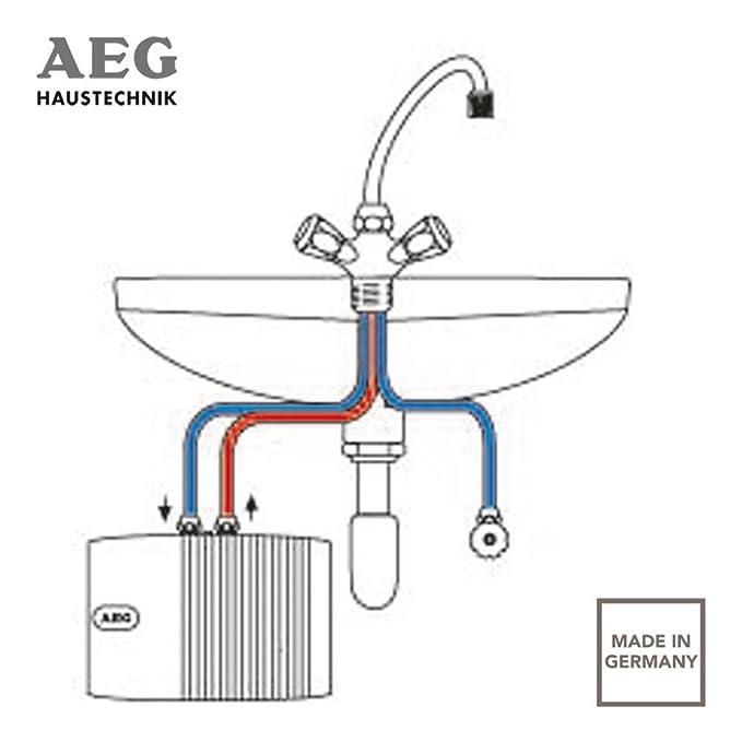 Calentador de agua sistema abierto