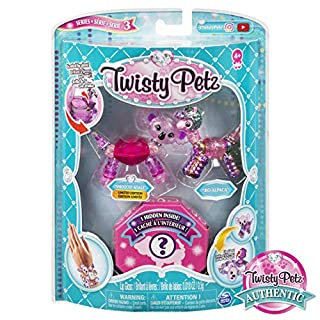 Twisty Petz, Series 3 3-Pack, Smoochy Koala, Bo Alpaca and Surprise Collectible Bracelet Set for Kids Aged 4 and Up