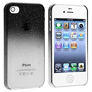 Snap-on Case compatible with Apple iPhone 4 / 4S , Clear Smoke Waterdrop