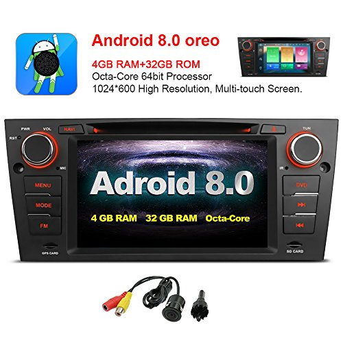 MCWAUTO For BMW E90 E91 E92 E93 7 Inch Android 8.0 Multi Touch Screen Car Stereo Radio DVD Player GPS CANbus Screen Mirroring Function OBD2 Octa-Core 64Bit 4G RAM 32GB ROM