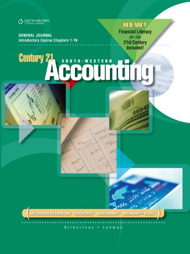 Download Century 21 Accounting: General Journal, Introductory Course, Chapters 1-16, 2012 Update Pdf
