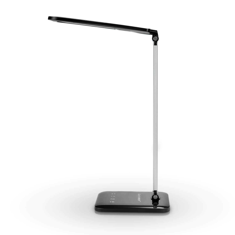 Schreibtischlampe LED Sailnovo 8W TageslichtlampeSchreibtisch mit 4-Level Brightness, 3-Lighting Modes Blendfrei Touch Control Panel Speicherfunktion Ultradünne Aluminiumlegierung Tischlampe 180°Schwenkarm LED Tageslichtlampe , Augenschonende und Energiee