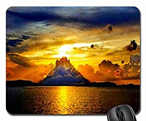 SUNSET RADIANCE Mouse Pad, Mousepad (Sunsets Mouse Pad, Watercolor style)