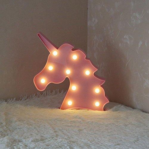 AIZESI Unicorn Shaped Animal Light Table Lamp 3D Marquee Unicorn ...
