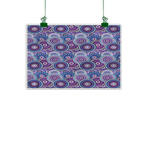 - duommhome Decorate Stickers for Wall Purple Hand Painted Circular Dots Pattern 20