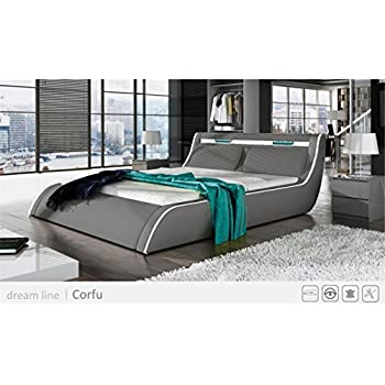 Amazoncom GOCORFY Queen Light Grey Modern Platform Bed with