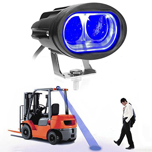 (LIGHTUPRO 20W 3D Convex Lens Blue Safety Warning LED Light Spotlight Forklift Truck Lamp/Spot Light Safe Warning Light/Offroad Race Lamp/Forklift Safety Light 10-80V Waterproof IP68 (Blue))
