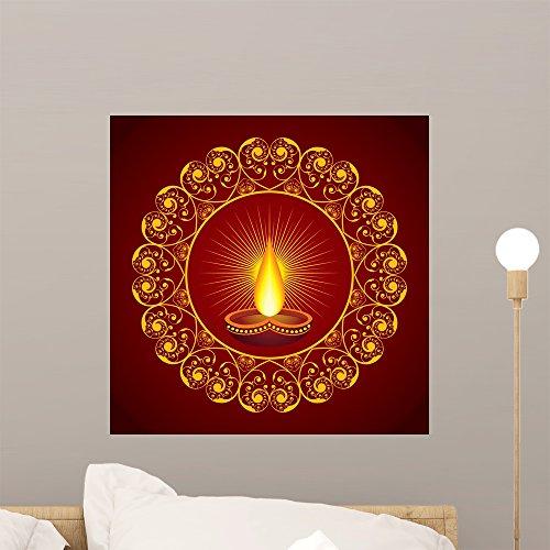 Treat Diwali - Wallmonkeys FOT-70882545-18 WM49834 Creative Diwali Greeting Vector Illustration Peel and Stick Wall Decals H x 18 in W, 18