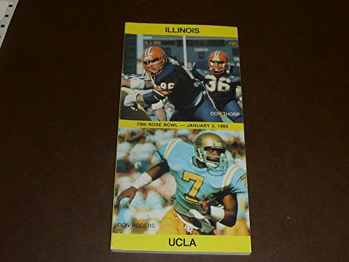 1984 ROSE BOWL COLLEGE FOOTBALL MEDIA GUIDE UCLA ILLINOIS EX-MINT