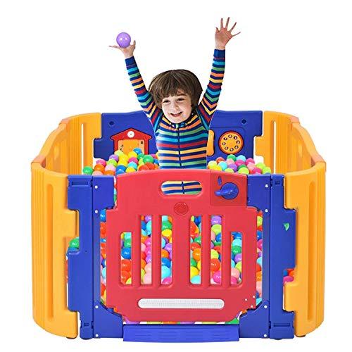 Costzon Baby Playpen Kids Safety Activity Center Play Zone Blue, 4 Panel