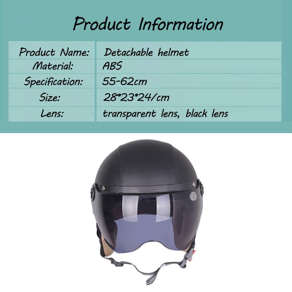 -A 55-62cm Casque De V/élo Cortex Casque D/étachable L/éger Et Robuste avec Pare-Soleil,Black