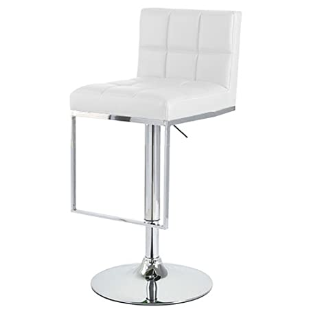 Modernhome Alex Contemporary Adjustable Barstool – White