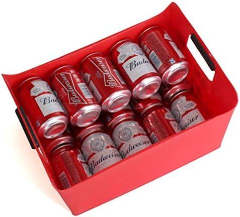 10 Stück Plasti Lagerung Wanne 13 Liter Wein Bierflasche Getränk Kühler Parties Eiskübel, Getränkekühler Bin Eiskübel, Multifunktionales Eisvorratsbehälter (Color : Green, Size : 10pcs)