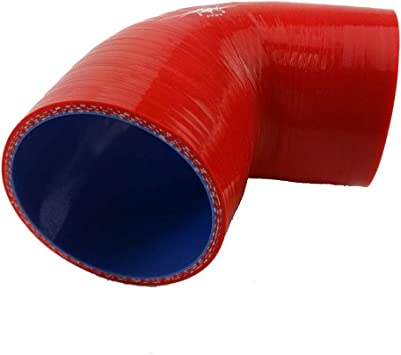 I33T Straight Coupler Silicone Hose Radiator Pipe Inner Diameter 2.5 Inch Length 3 Inch Red