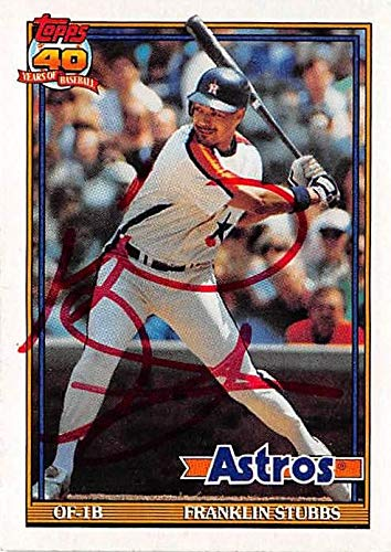 Franklin Stubbs autographed baseball card (Houston Astros) 1991 Topps #732 - Baseball Slabbed Autographed Cards