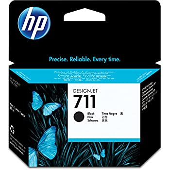 HP HEWCZ133A 711 80-ml Black Ink Cartridge, Black
