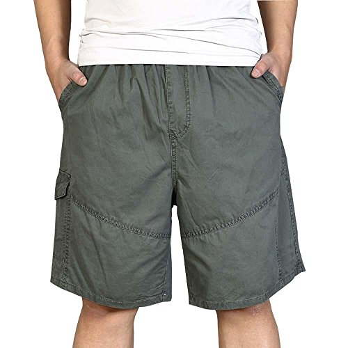 MUST WAY Men's Outdoor Breathable Lightweight Elastic Waist Cargo Shorts 2018# ArmyGreen ()