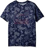 Under Armour Boys Big Logo Printed T-Shirt,Midnight Navy /Black Currant, Youth X-Small