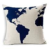 E-gift Cotton Linen Decorative Couple Throw Pillow Cover - Best Reviews Guide