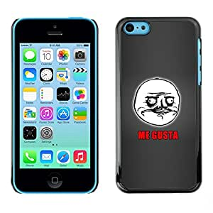 PC/Aluminum Funda Carcasa protectora para Apple Iphone 5C Me Gusta Spanish Quote Writing Face Man / JUSTGO PHONE PROTECTOR