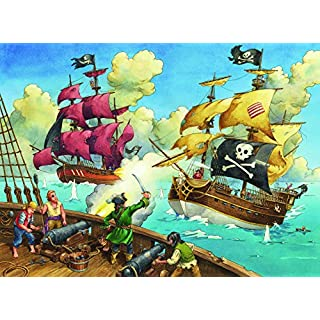 Ravensburger Pirate Battle 100 Piece Jigsaw Puzzle for Kids – Every Piece is Unique, Pieces Fit Together Perfectly